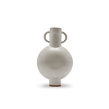Amphora Chimera Vase with Handles in White Glaze