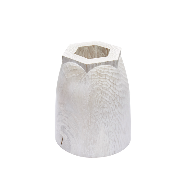 Small Bleached Oak Hex Vessel