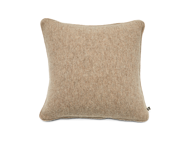 Boiled Wool Pillow in Mushroom
