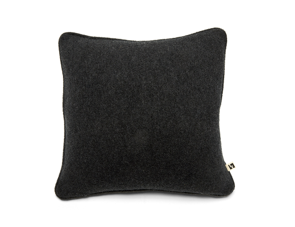 Boiled Wool Pillow Dark Grey