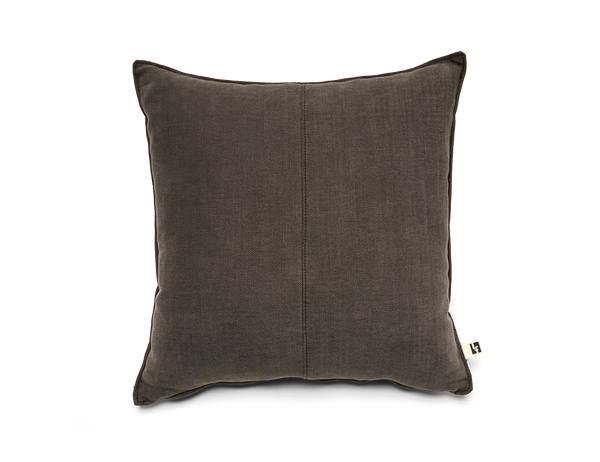 Washable Linen Pillow in Charcoal