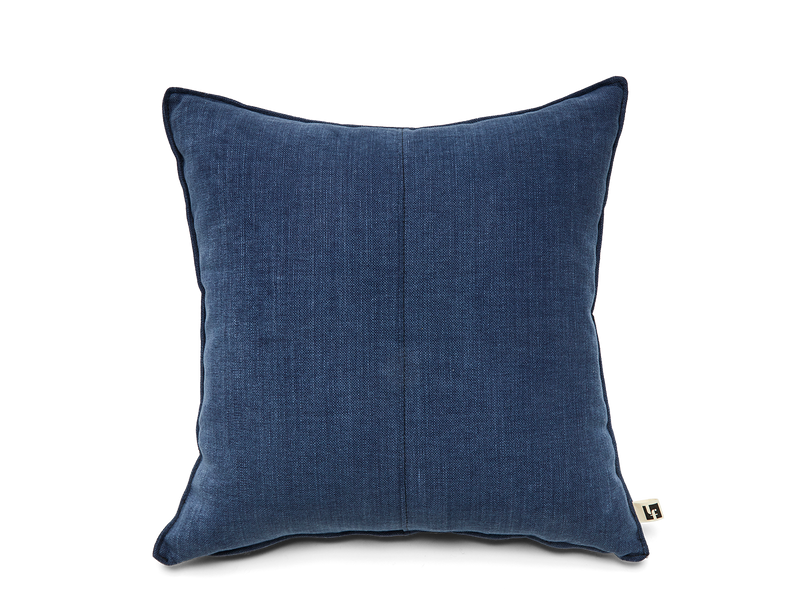 Washable Linen Pillow in Indigo