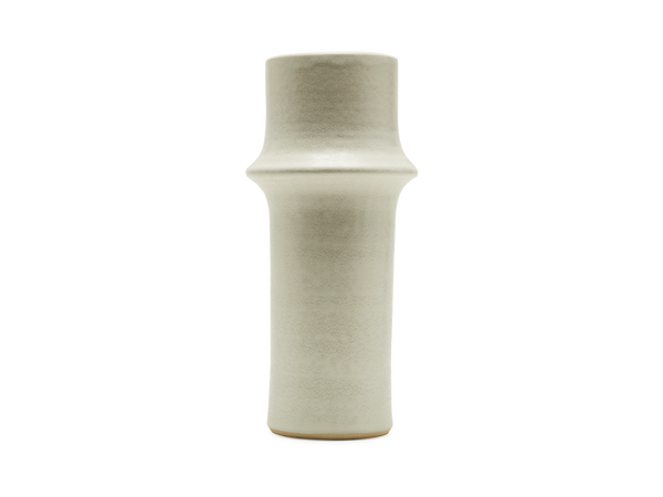 Tall Ridge White Vase