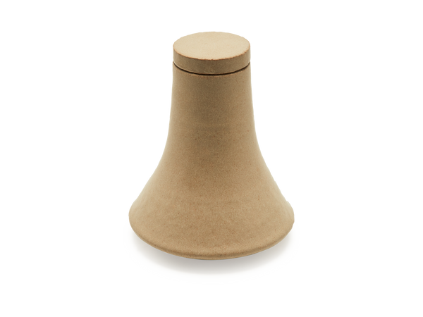 Angelo Vase Tan with Lid