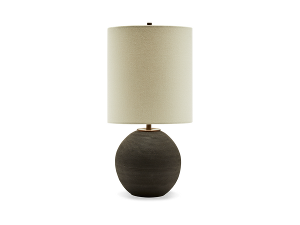 Ribbed Orb Lamp Black