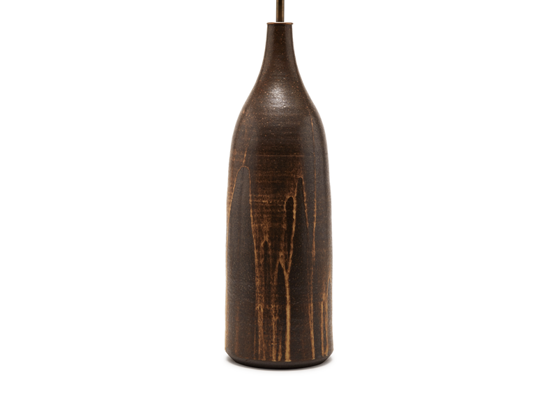 XL Poured Brown Bottle Lamp