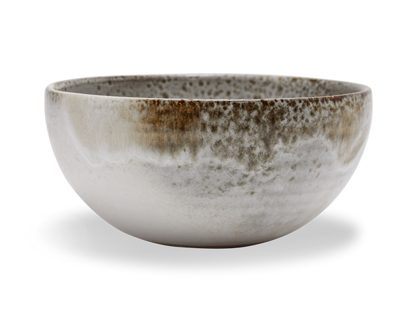 Medium Deep Bowl #10 - White and Brown
