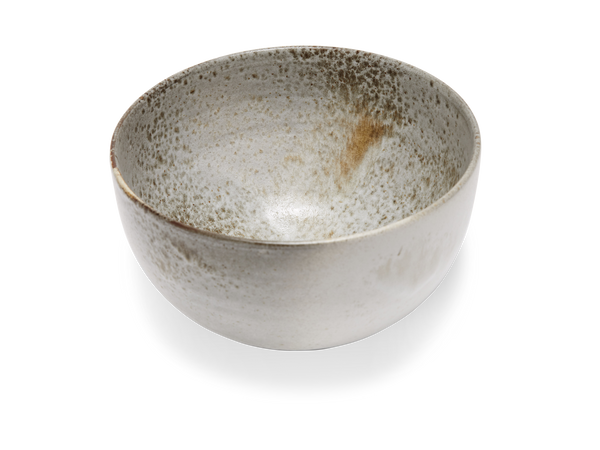 Large Deep Bowl #12 - White and Brown