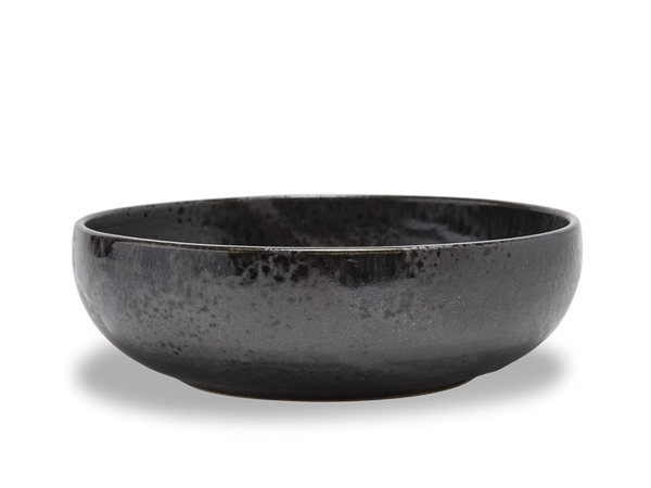 Large Shallow Bowl #13 - Black and White