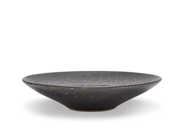 Large Flat Out Bowl #11 - Black and White