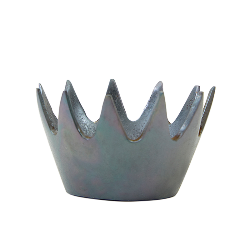 Brass Patina Crown Paperweight