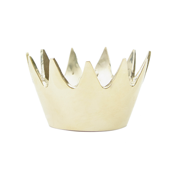 Solid Brass Crown Paperweight