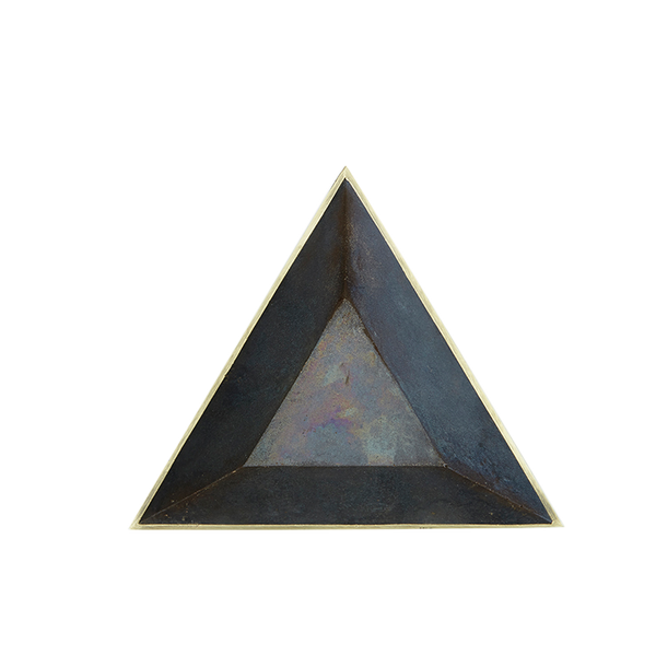 Blackened Brass Triangle Dish