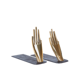 Bookends with Brass Hands