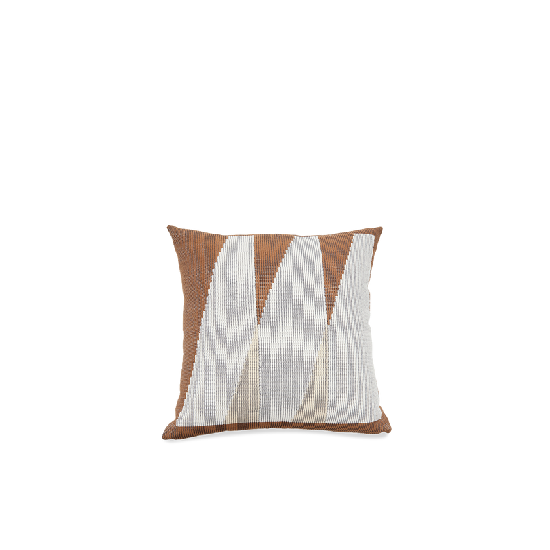 Brown Triangles Pillow