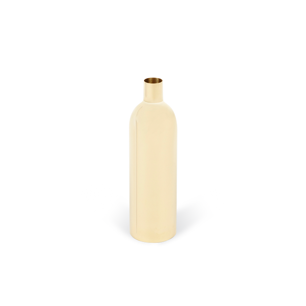 Via Fondazza Brass Bottle Vase