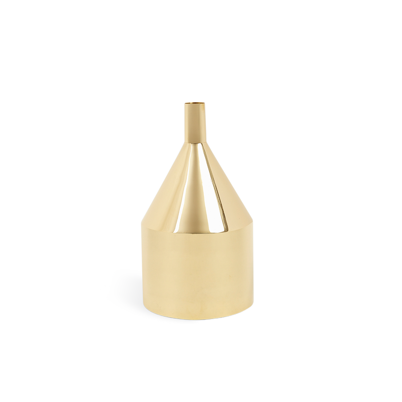 Via Fondazza Brass Funnel Vase