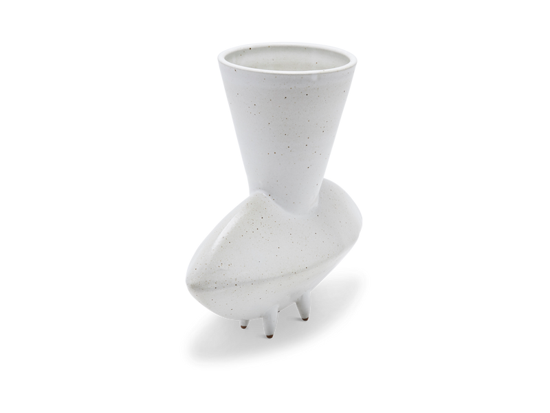 RHEA Low Chimera Vase in White