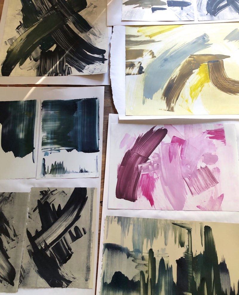 Monoprint and Canvas