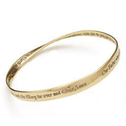 Lord's Prayer KJV Gold Bracelet
