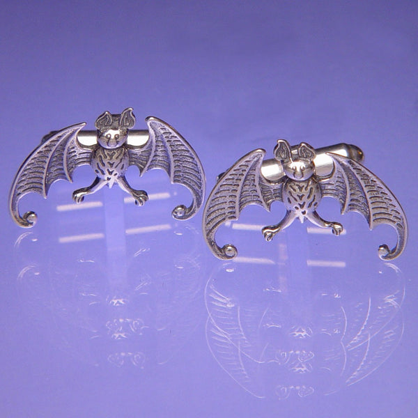Bat Sterling Silver Cuff Links