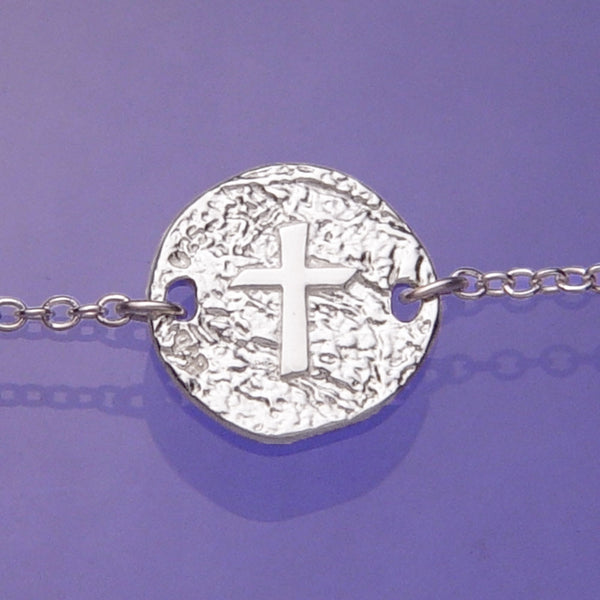 Cross Symbol Sterling Silver Christian Necklace
