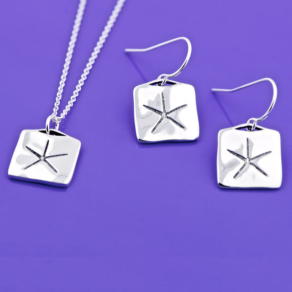 Egyptian Star Sterling Silver Earrings