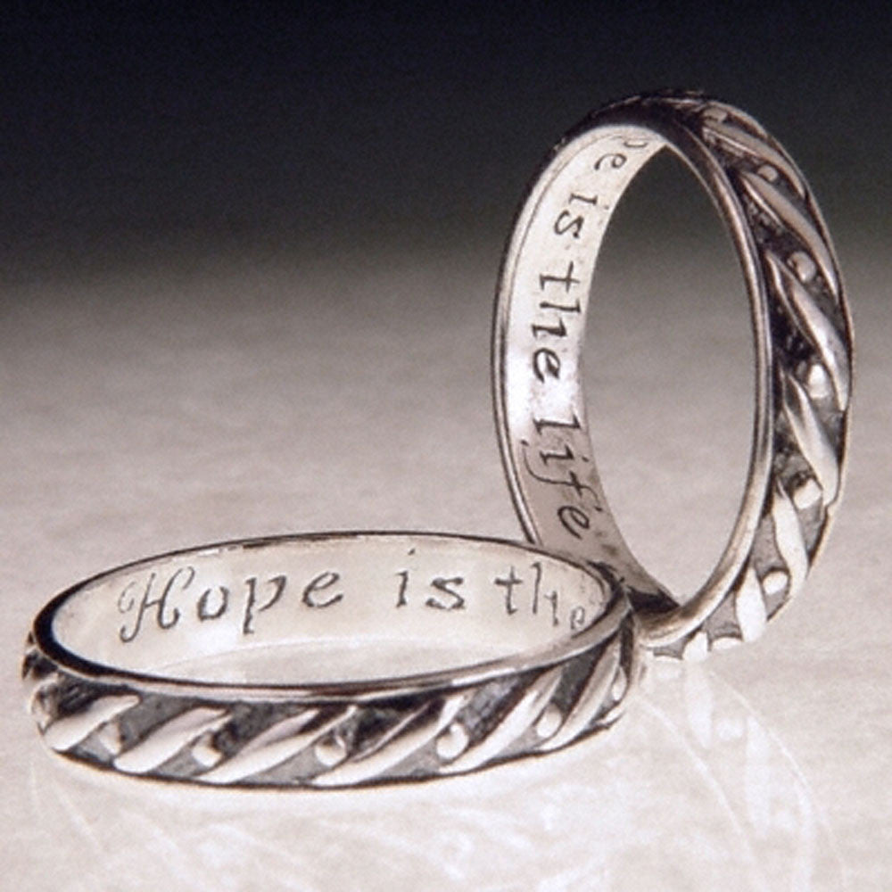 English Hope Sterling Silver Poesy Ring