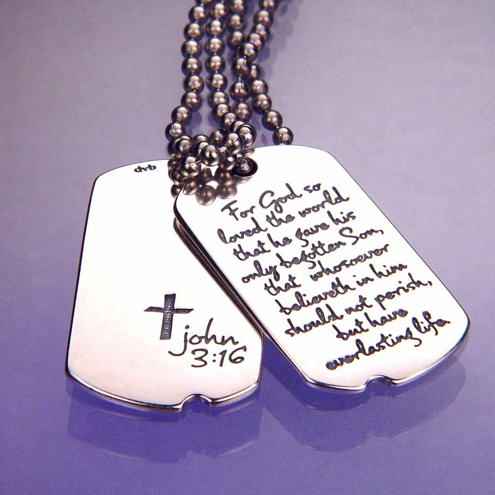 Everlasting Life Sterling Silver Dog Tag