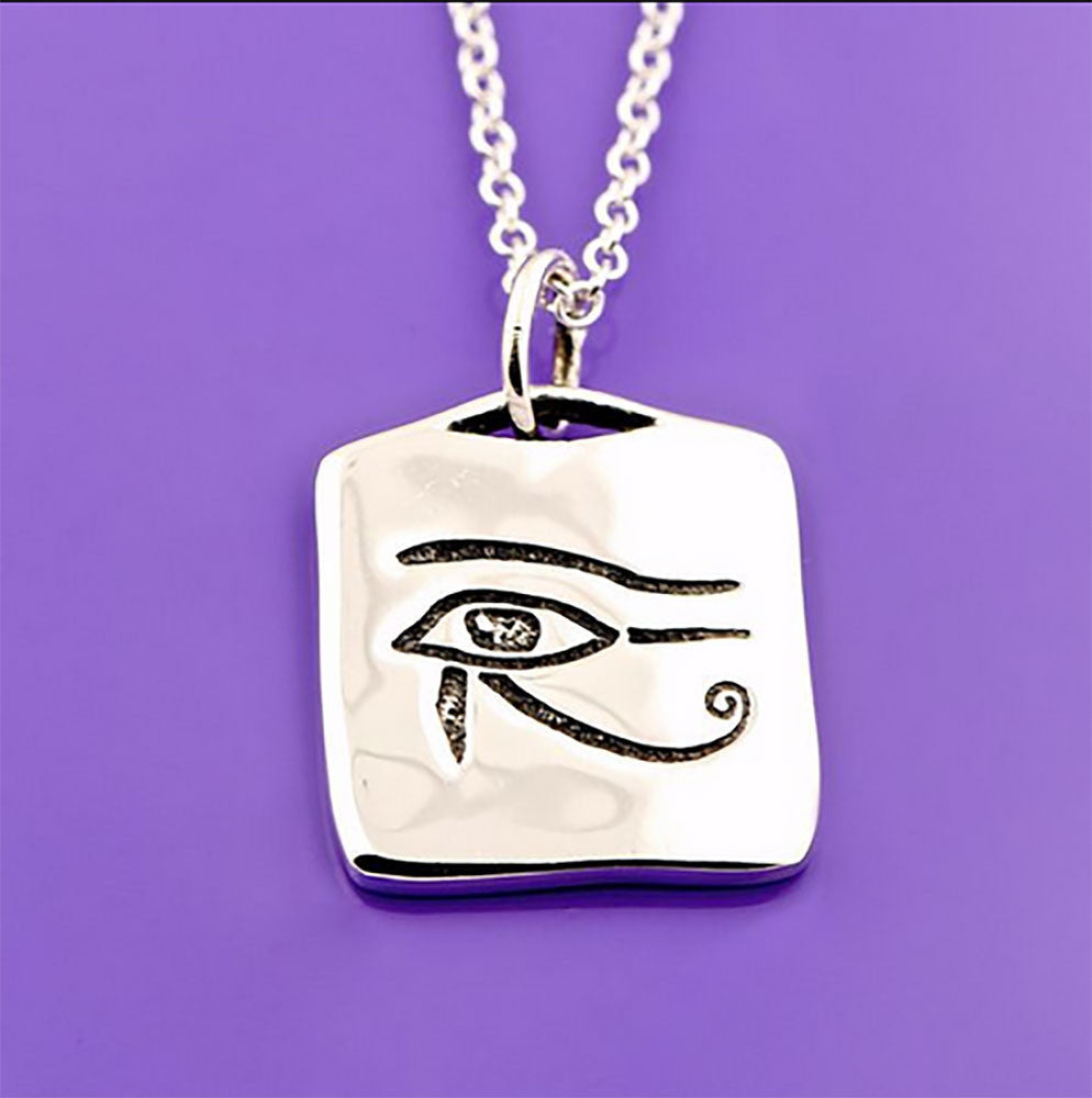 Dainty Eye of Horus Sterling Silver Necklace