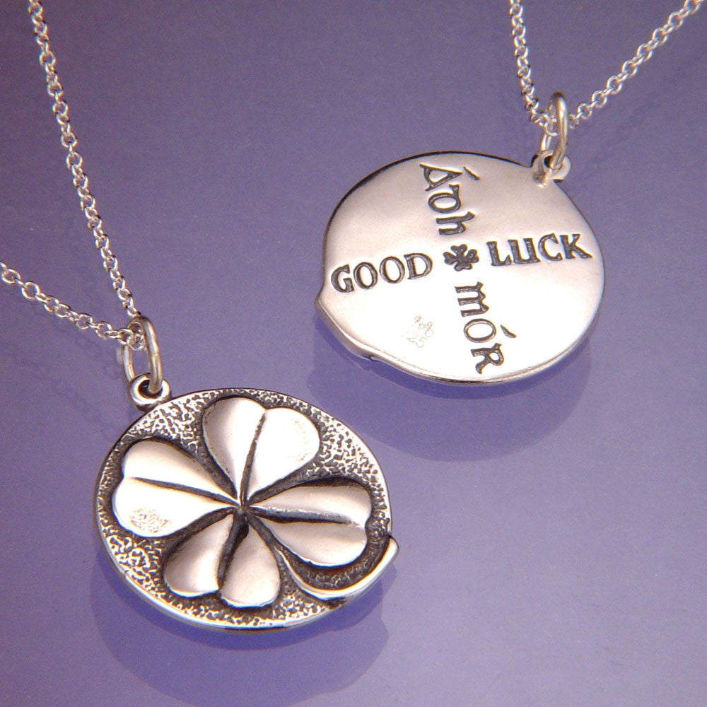 lucky clover shop hurleyburley necklace sterling four silver original leaf