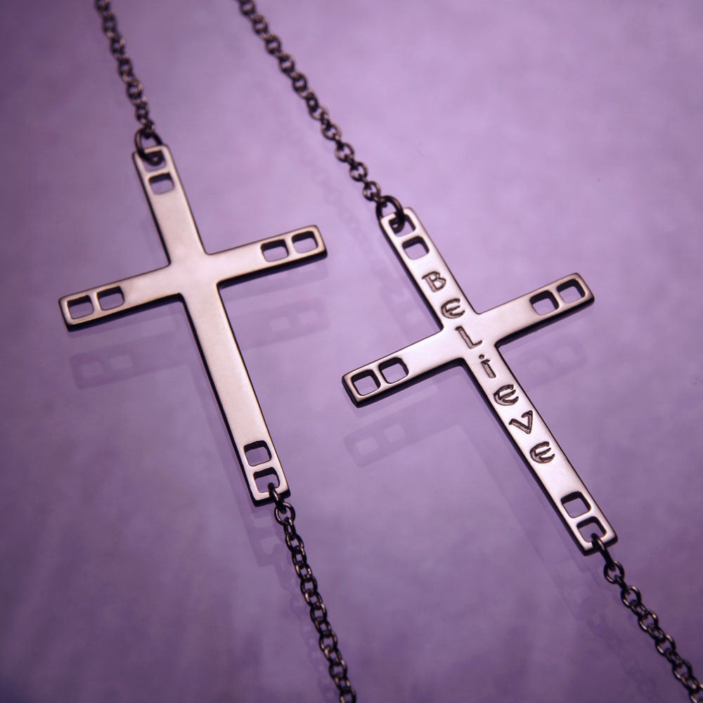 Christian Horizontal Cross Sterling Silver Necklace