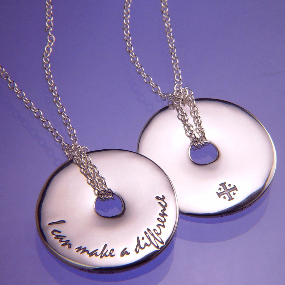 I Can Make A Difference Sterling Silver Necklace