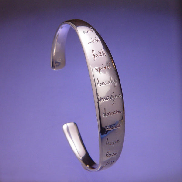 Imagine Sterling Silver Cuff