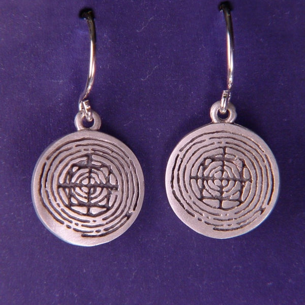 Mandala Dainty Sterling Silver Earrings