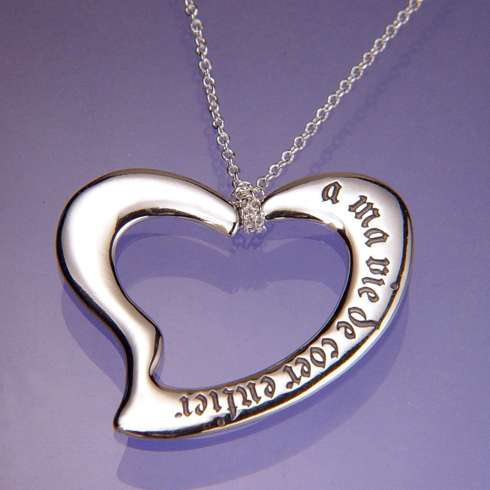 My Whole Heart Sterling Silver Necklace