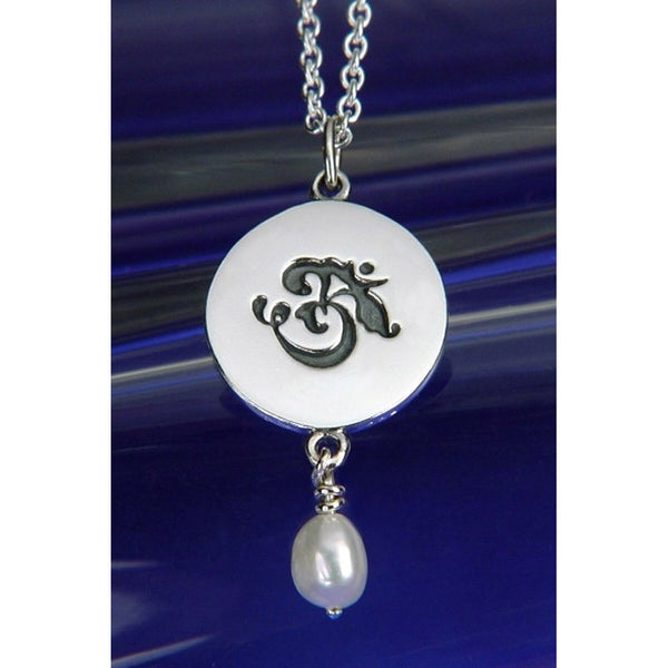 Om Pearl Sterling Silver Necklace