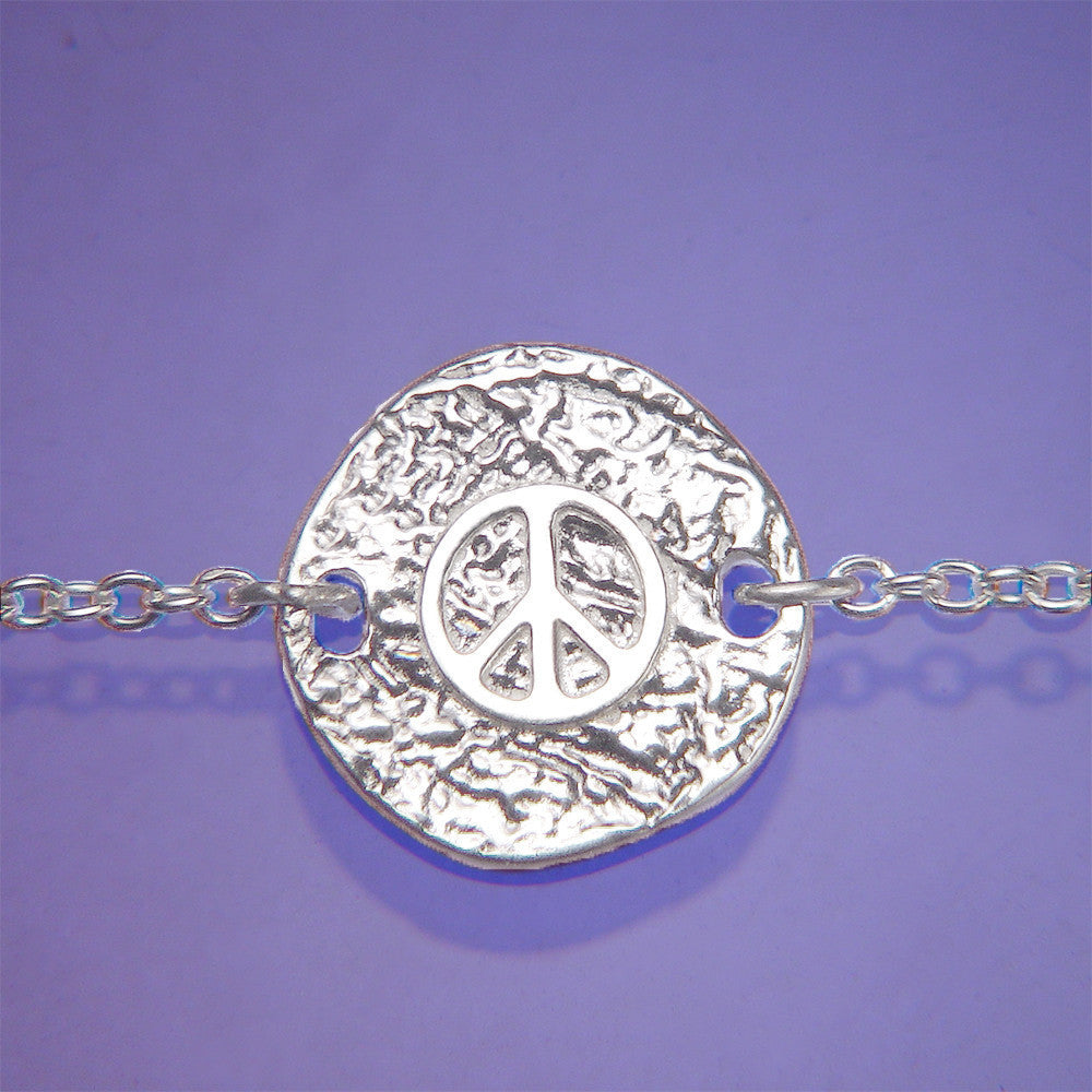 Peace Symbol Sterling Silver Necklace