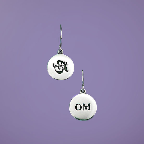 Petite Om Sterling Silver Earrings