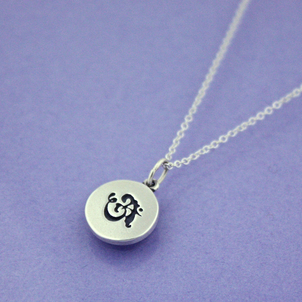 Petite Om Sterling Silver Necklace