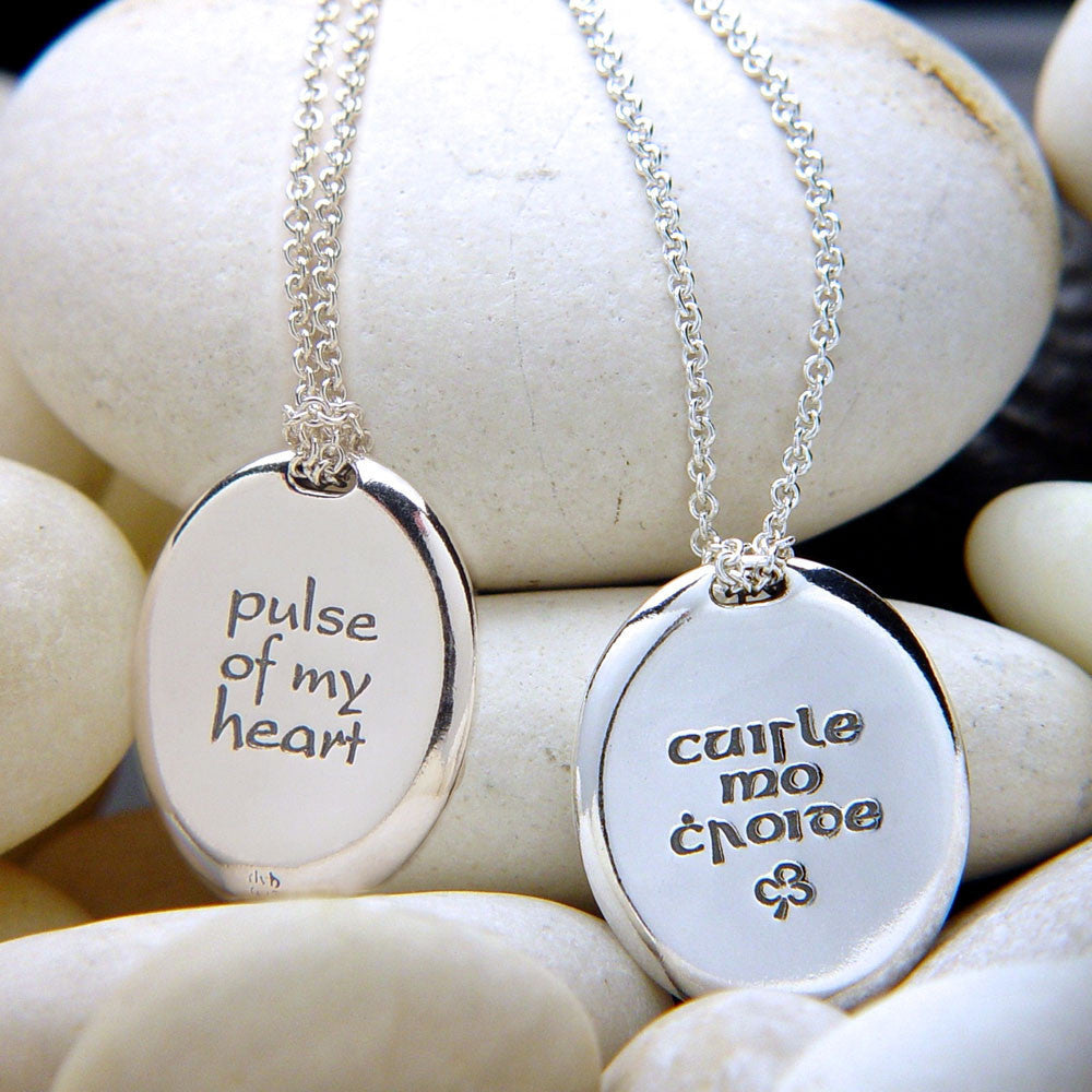 Pulse Of My Heart Irish Sterling Silver Necklace