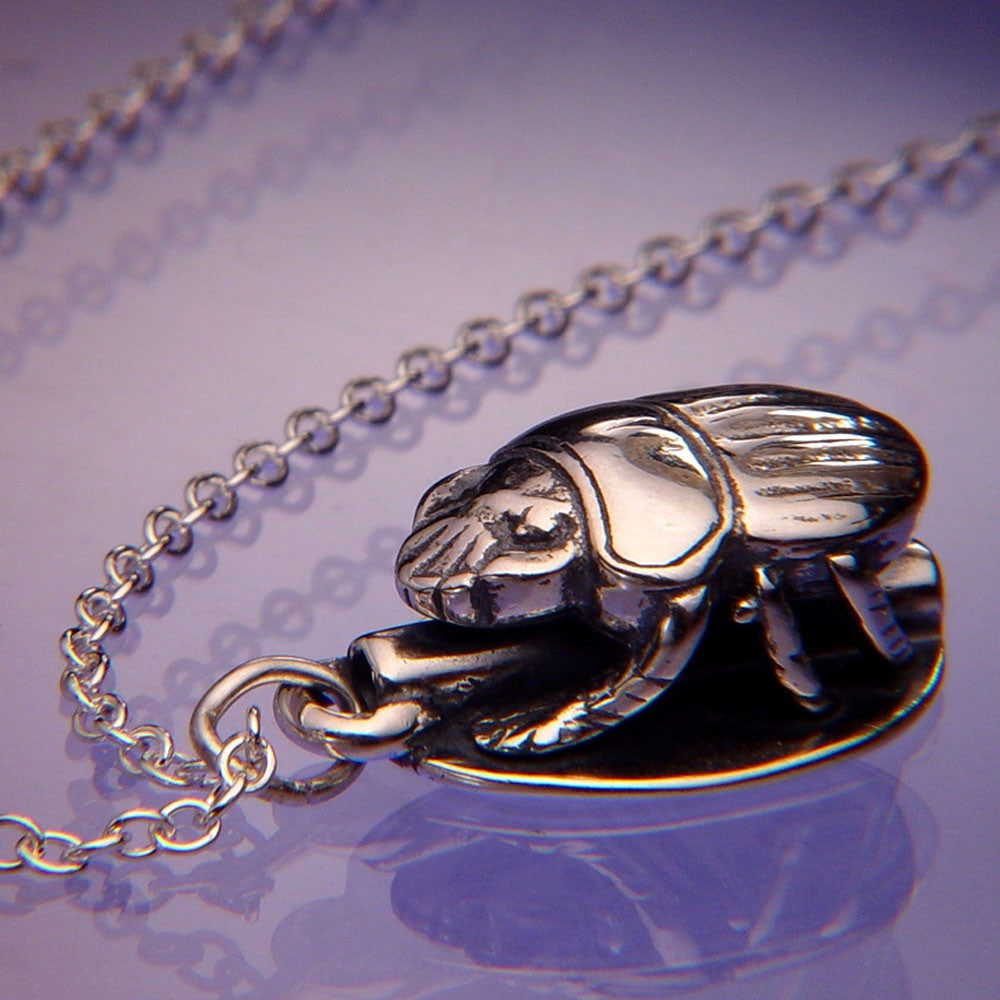 Scarab Sterling Silver Necklace