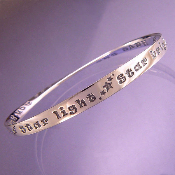 Star Light, Star Bright Sterling Silver Bracelet