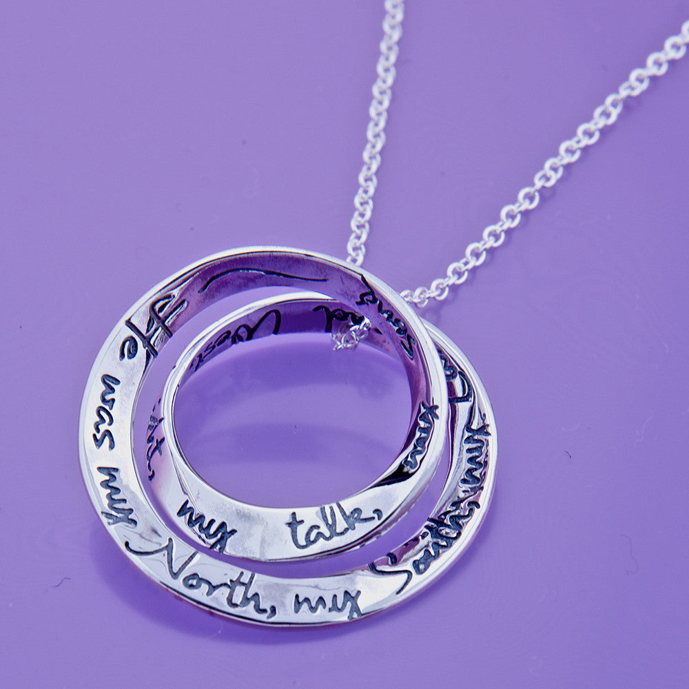 Stop All The Clocks Sterling Silver Necklace