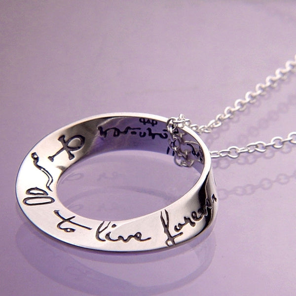 To Live Forever Sterling Silver Necklace