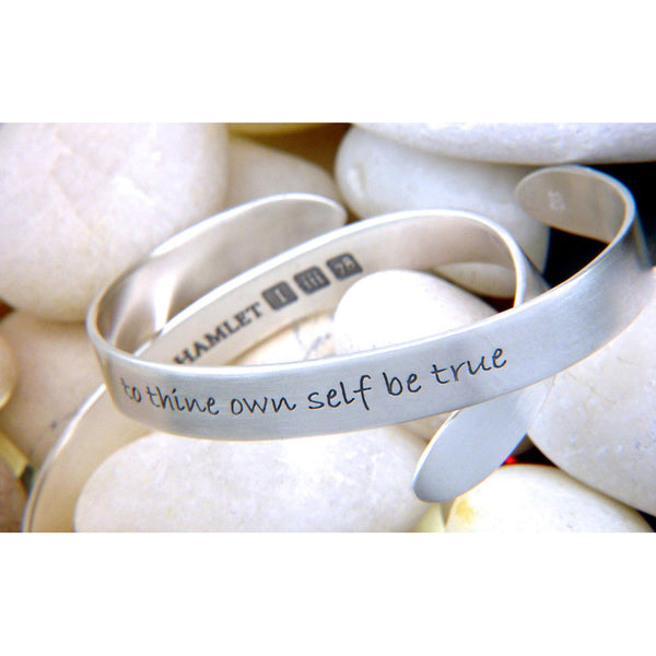 To Thine Own Self Be True Sterling Silver Cuff