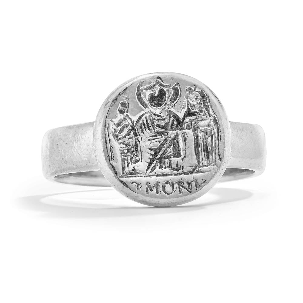 Harmony Marriage Ring - Sterling Silver