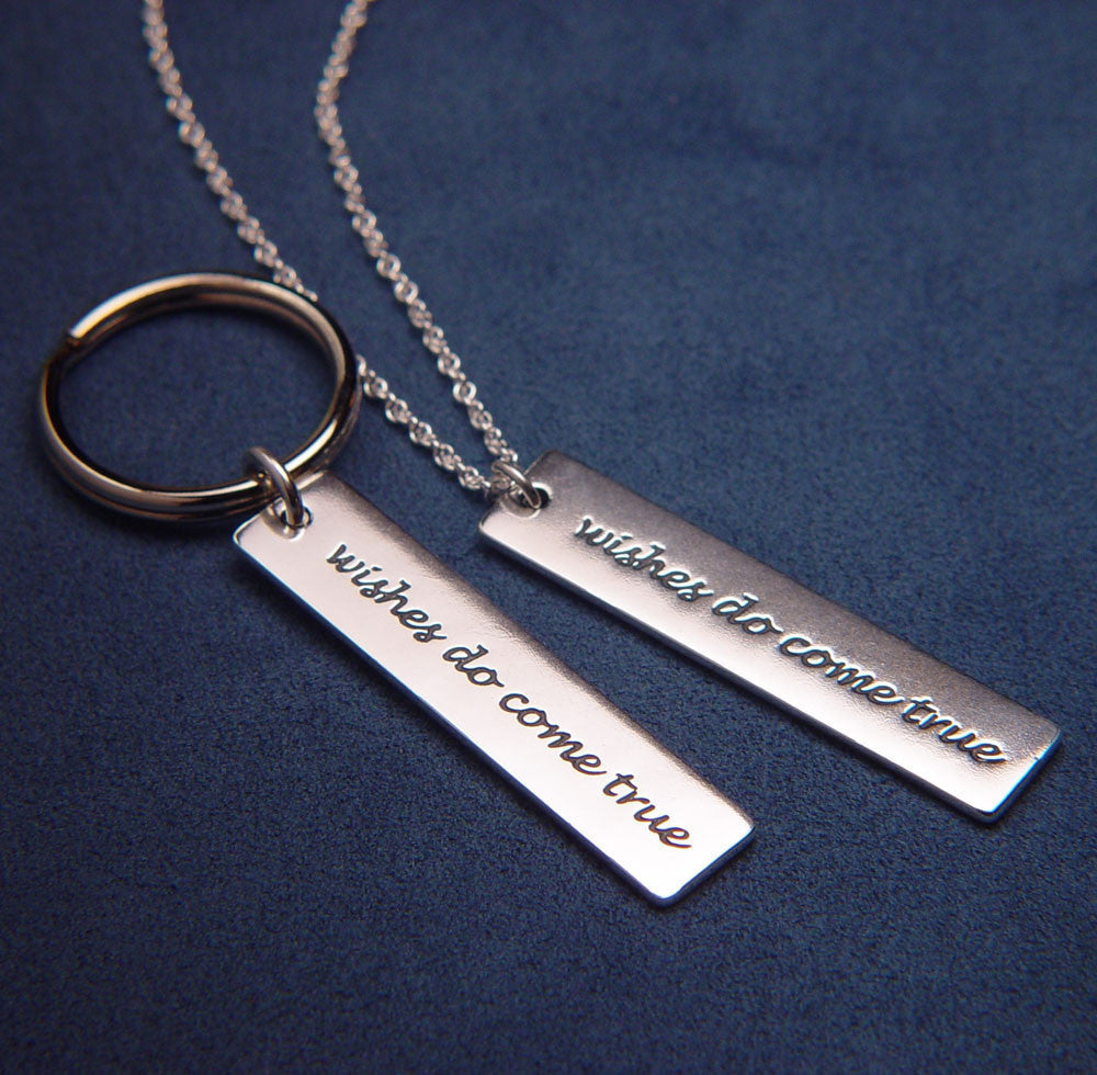 Wishes Do Come True Sterling Silver Key Chain