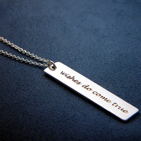 Wishes Do Come True Sterling Silver Necklace