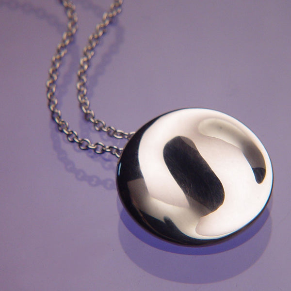 Yin-Yang Sterling Silver Necklace